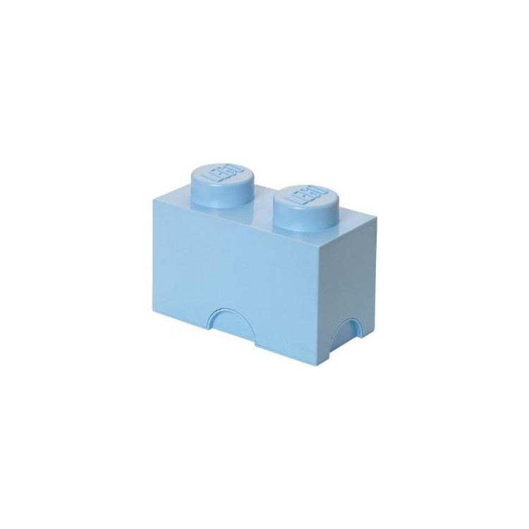 LEGO úložný box 125x250x180mm - světle modrý