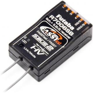 Futaba 6/18k R7006SB FASSTest/FASST S.BUS/2 vevő 2.4GHz