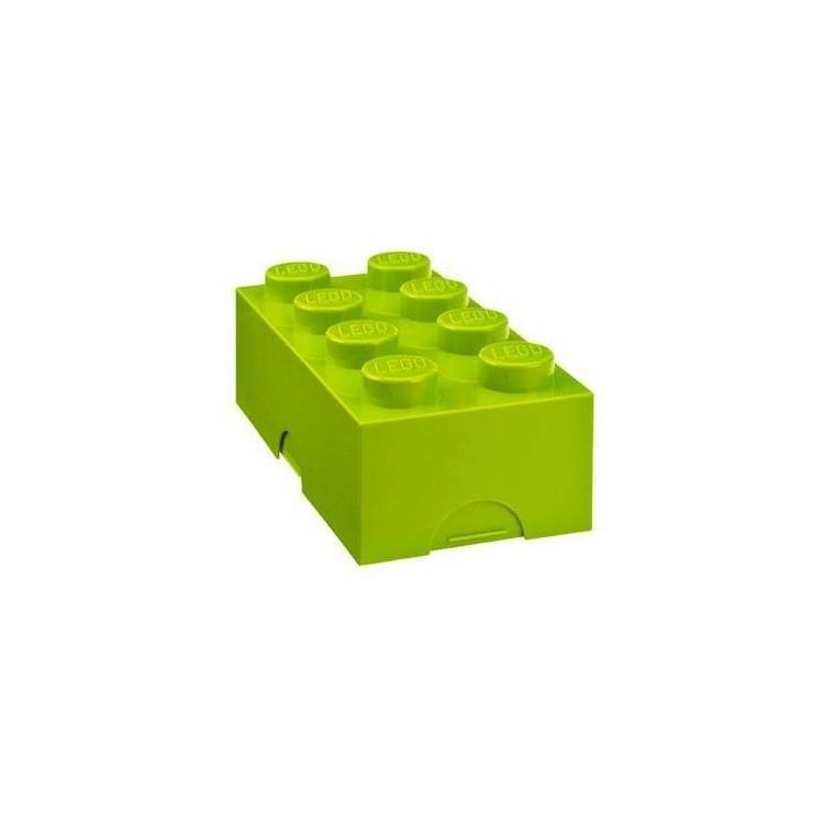 LEGO box na svačinu 100x200x75mm - světle zelený