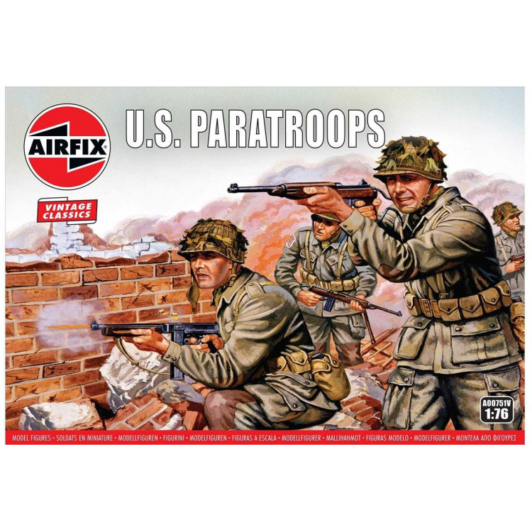 Classic Kit VINTAGE figurky A00751V - US Paratroops (1:76)