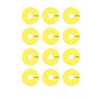 VTEC matricák a 1/10 TC diszkekre - sárga