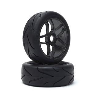 VTEC 1/8 Off-Road Buggy - Racing Slick - nalepené na černých diskách