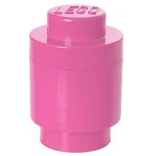 LEGO® Tároló doboz kerek ø123x183mm - rózsaszín LEGO® 40301739