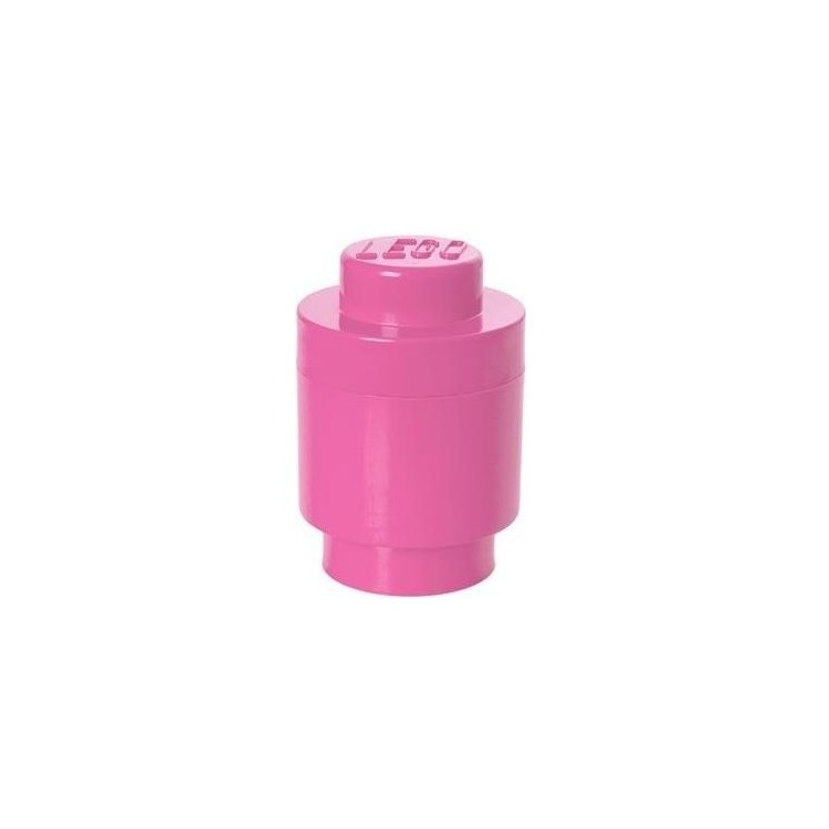 LEGO úložný box kulatý o123x183mm - růžový