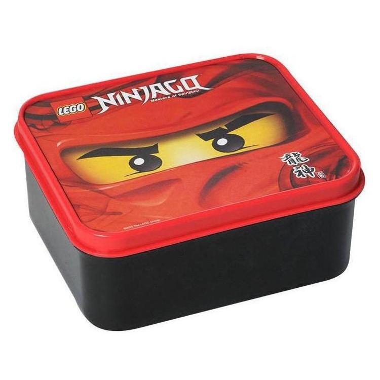 LEGO Ninjago box na svačinu 160x141x66mm - červený