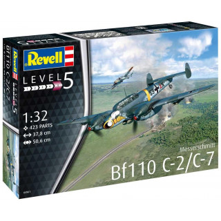 Plastic ModelKit repülőgép 04961 - Messerschmitt Bf110 C-2/C-7 (1:32)
