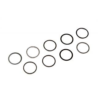 Shims/alátét (acél 1.4301/1.4310), 7x9x0,1mm (3), 7x9x0,25mm (3), 7x9x0,4mm (3)