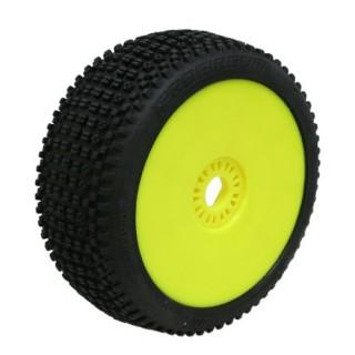 ROAD RUNNER (soft/zelená směs) Off-Road 1:8 Buggy gumy nalep. na žlutých disk. (2ks.)