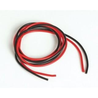 Szilikon kábel 1,6qmm, 15AWG, 2x1méter, fekete - piros