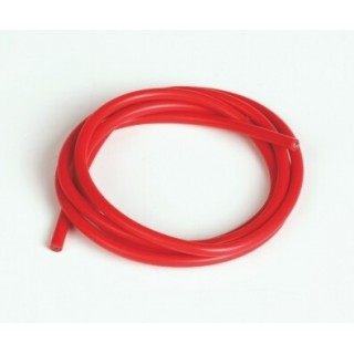 Szilikon kábel 2,6qmm, 13AWG, 1méter, piros
