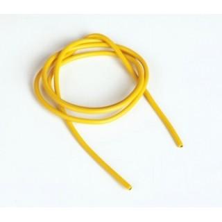 Szilikon kábel 2,6qmm, 13AWG, 1méter, sárga