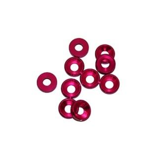 4 mm.alu podložky růžové (10 ks.)