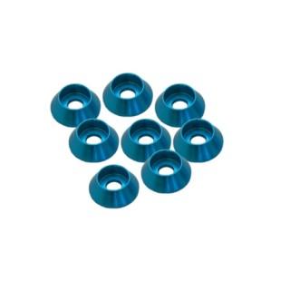 Kúpos alátét, kék, aluz, 3 mm (8 db)