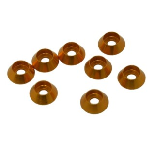 3 mm alu kúpos alátét - arany (8db)
