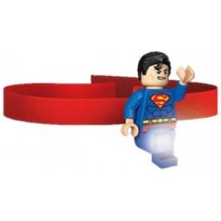 LEGO® Superman csiptethető és fejre rakható minifigura LED lámpa LEGO® LGL-HE7