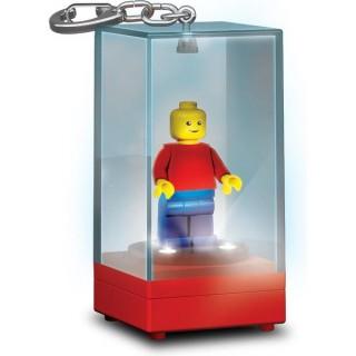 LEGO átlátszó, világító minifigura tartó doboz, kulcstartódísz, minifigurával LGL-KE75