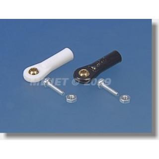 2431 Golyóscsap V1, Pr.5mm, M2,5 / 2 rövid fekete 6 db.
