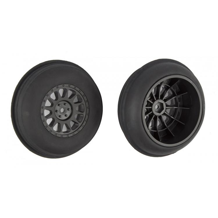 Písečné nalepené gumy, černé disky, přední