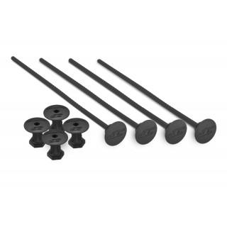 Držáky 1/10 Off road gumy, černé - 4ks.