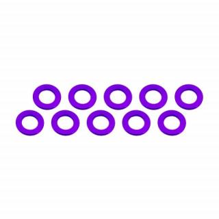 3x6x0,5mm alu alátét lila (10 db.)