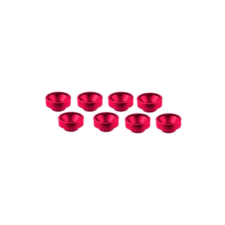 M3 alu servo podložky růžové (8 ks.)