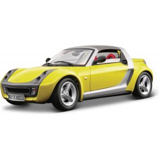 Bburago Smart Roadster 1:18 sárga