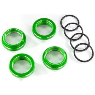 Traxxas biztosító anya lengéscsillapítóhoz GT-Maxx alu zöld (4)