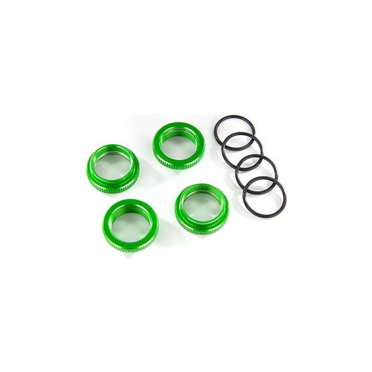 Traxxas stavěcí matice tlumiče GT-Maxx hliníková zelená (4)