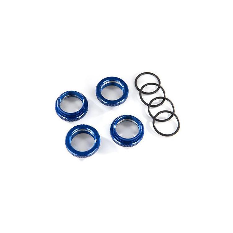 Traxxas stavěcí matice tlumiče GT-Maxx hliníková modrá (4)