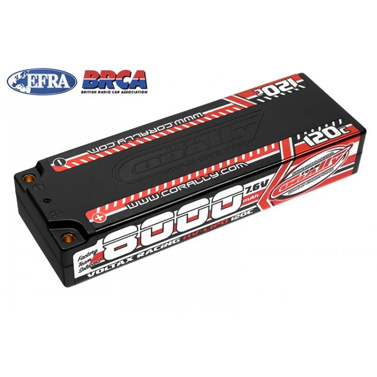 VOLTAX HiVOLT 120C LiPo Stick Hardcase-8000mAh-7.6V-G4 (60,8Wh)