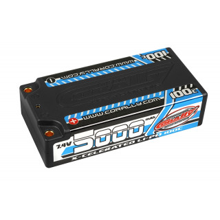 X-CELERATED 100C LiPo Shorty Hardcase-5000mAh-7.4V-G4 (35,52Wh)