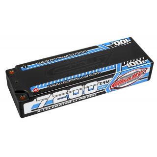X-CELERATED 100C LiPo Stick Hardcase-7200mAh-7.4V-G4 (51,80Wh)