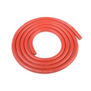 Szilikon kábel 5,5qmm, 10AWG, 1méter, piros