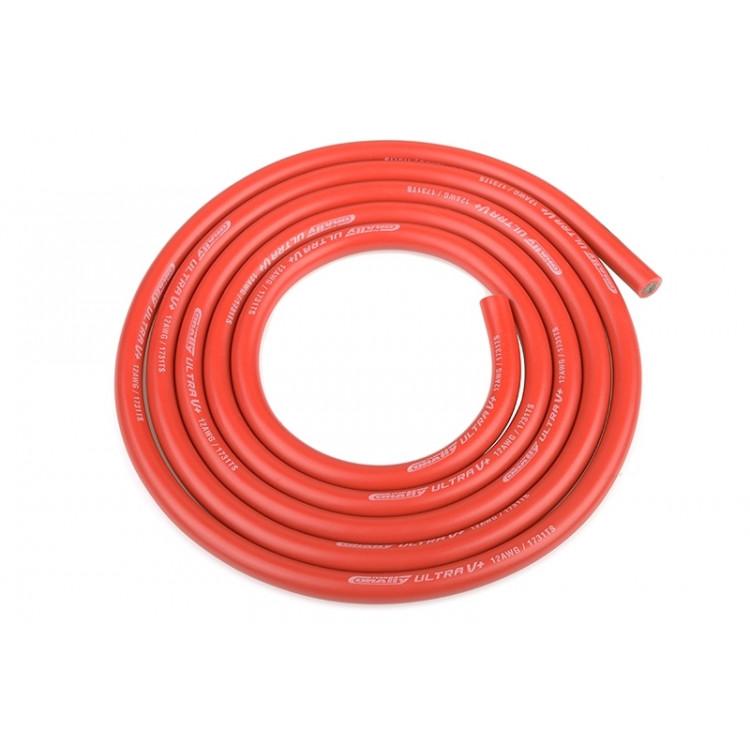 Silikonový kabel 4,5qmm, 12AWG, 1metr, červený