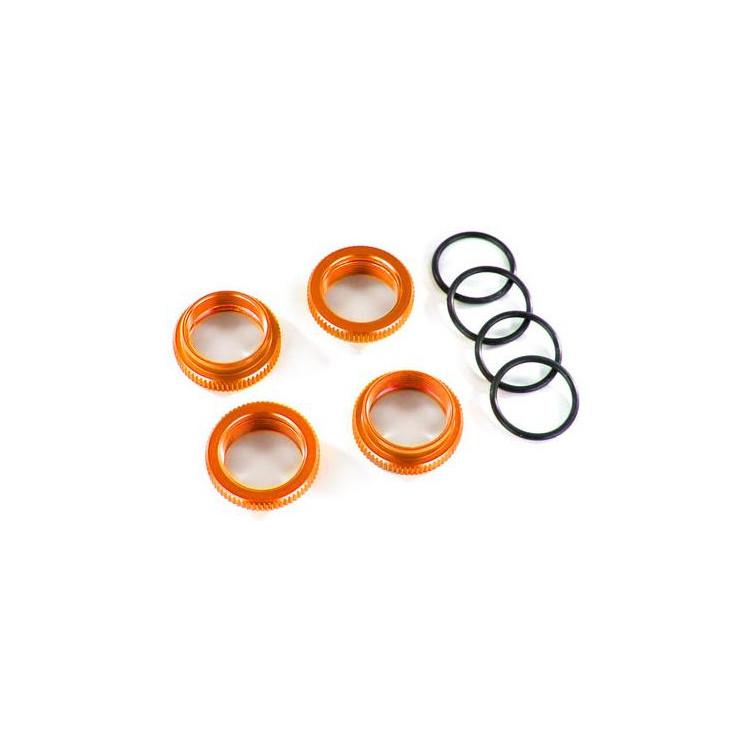 Traxxas stavěcí matice tlumiče GT-Maxx hliníková oranžová (4)