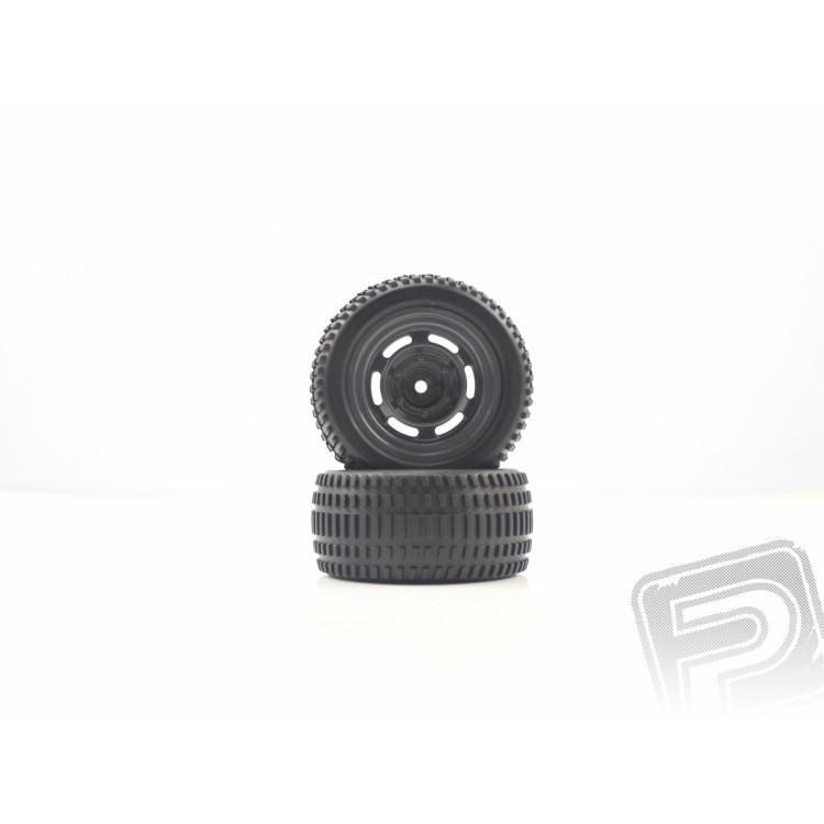 Nalepené gumy Černé, Truggy Zadní 2ks