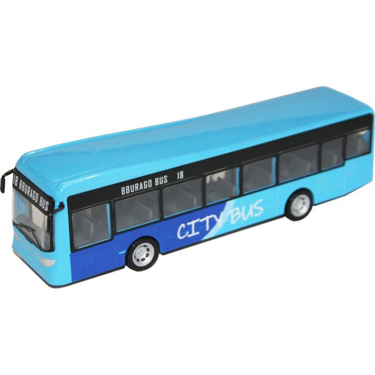 Bburago City Bus modrý