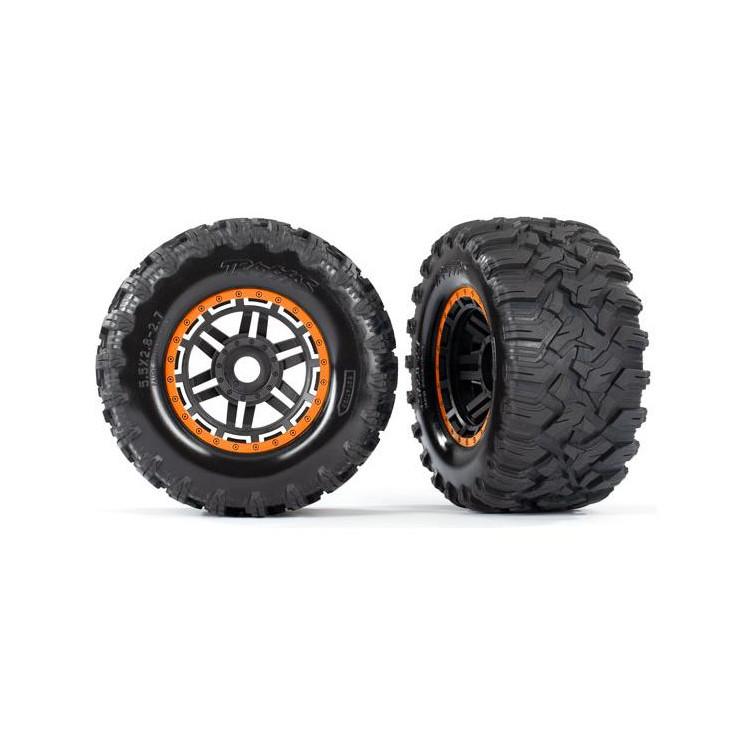 """Traxxas kolo 2.8"""", pneu Maxx All-Terrain, disk černo-oranžový (2)"""