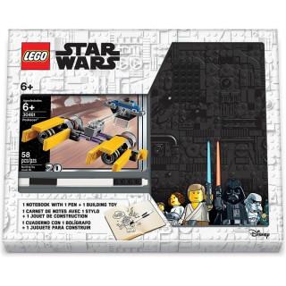 LEGO zápisník A5 s perem Star Wars Podracer