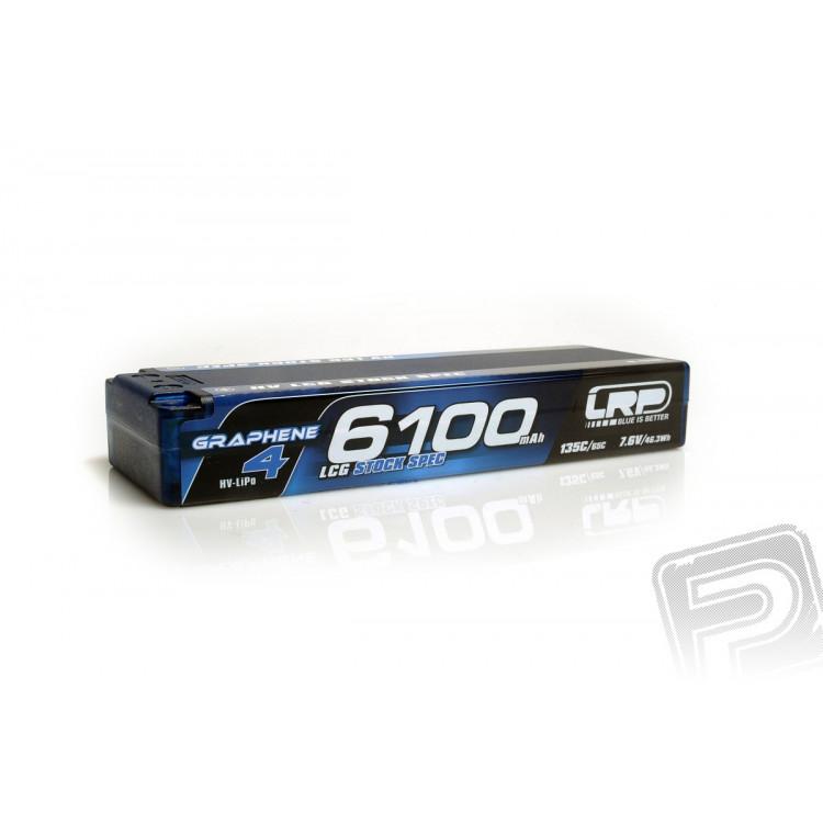 HV LCG Stock Spec GRAPHENE-4 6100mAh Hardcase Akku - 7.6V LiPo - 130C/65C