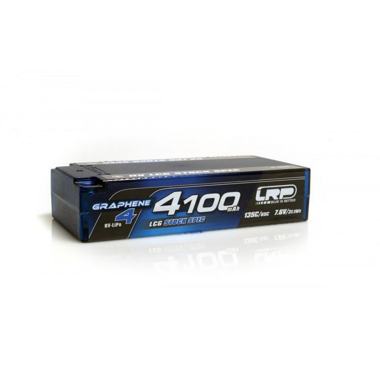 HV LCG Stock Spec Shorty GRAPHENE-4 4100mAh Hardcase Akku - 7.6V LiPo - 135C/65C