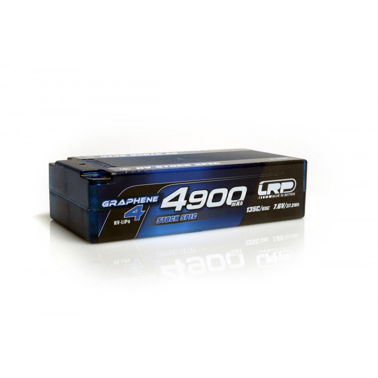 HV Stock Spec Shorty GRAPHENE-4 4900mAh Hardcase Akku - 7.6V LiPo - 135C/65C
