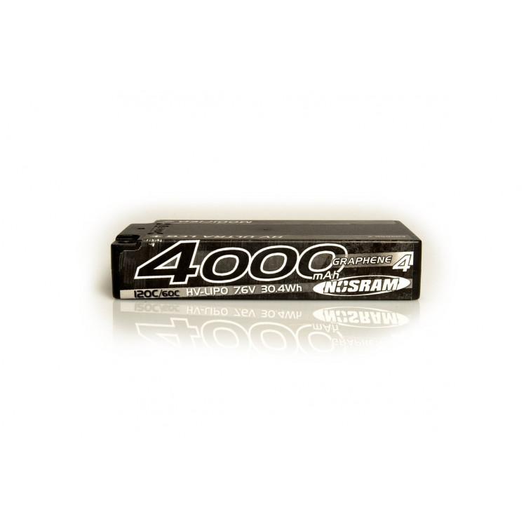 HV Ultra LCG Modified Shorty GRAPHENE-4 4000mAh Hardcase Akku - 7.6V LiPo - 120C/60C