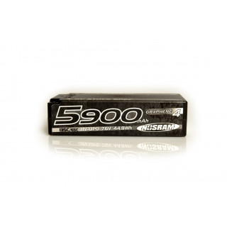 HV Stock Spec Shorty GRAPHENE-4 5900mAh Hardcase Akku - 7.6V LiPo - 135C/65C