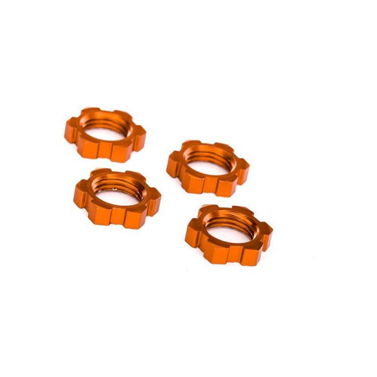 Traxxas matice kol 17mm hliníkové oranžové (4)