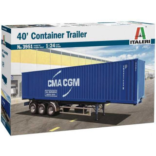 Model Kit truck 3951 - 40' Container Trailer (1:24)