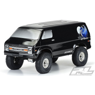 Lakkozott karosszéria '70s Rock Van (12.3) 313m alvázhoz, fekete