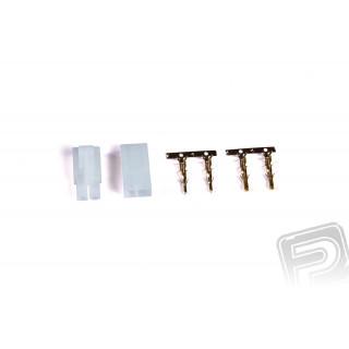 Set pozlacených JST/TAM konektorů (1 pár)