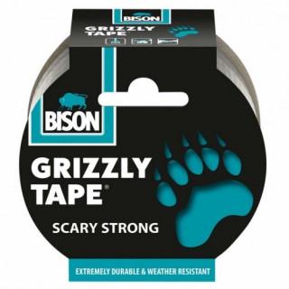 BISON Grizzly tape 10m Stříbrná