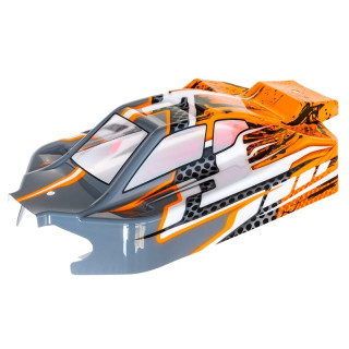 NXT EVO 4S oranžově/šedá lexanová lakovaná karoserie